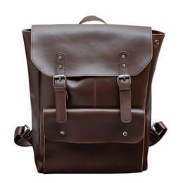 Doctor Backpacks Australia - 2019 Multifunction Men Backpack Crazy Horse Leather Men School Bag Vintage Backpack For Teenage Boys Schoolbag Laptop Travel Bag Y19061102