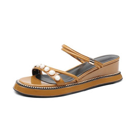 9ebce58c4d1 Discount girls sandals design - new woman causal sandals leather shoes for  girl genuine leather high