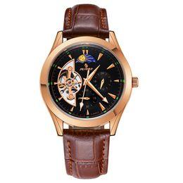 Discount men sports hand watch - SENORS Watch Men Skeleton Automatic Mechanical Wristwatches Male luminous Watch Men Hands sport Mens Fashion Casual cloc