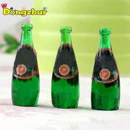 Wholesale NEW Set DIY Dollhouse Miniatures Accessories Resin Drinks Fruit Bottles Miniature Kitchen Accessories Bottles