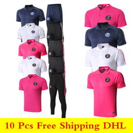 $enCountryForm.capitalKeyWord Australia - Newest 19 20 Paris short sleeve T shirt tracksuits 2019 2020 Psg sportswear CAVANI soccer jerseys sets Mbappe training suits Polo shirts