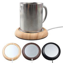 Usb Tea Cup Warmer Australia - Usb Heating Coaster New Creative Coffee Tea Milk USB Warm Cup Heating Device Office Coffee Tea Warmer Pad Mat Gifts