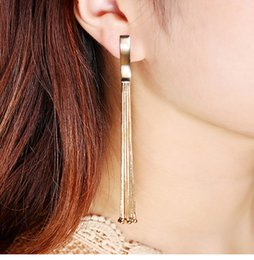 Copper Earrings Australia - Necklace 10cm Long Temperament Personality Tassel Chain Ball Earrings Copper Plating Real Gold