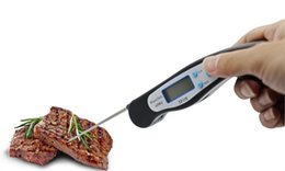 Wholesale Foldable Digital BBQ Thermometer Oven Electronic Folding Probe Meat Food Kitchen Thermometer Liquid Water Oil Cooking Tools Food Thermometer
