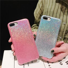 Glitter For Glasses Australia - Luxury Designer Hologram Glitter Glass Case for IPhone X XS MAX XR 8 7 Plus 6 S 6s Plus I Phone 7plus Rainbow Phone Holo Cover 500pcs