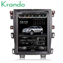 "$enCountryForm.capitalKeyWord Australia - Krando Android 6.0 12.1"" Tesla Vertical screen car dvd radio gps for FORD EDGE 2009-2014 navigation multimedia system WIFI A C BT"