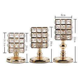 $enCountryForm.capitalKeyWord UK - 3Pcs Crystal VOTIVE Candle Holders Tea Lamp Holder Wedding Table Centerpieces Dining Table Decorations Gifts