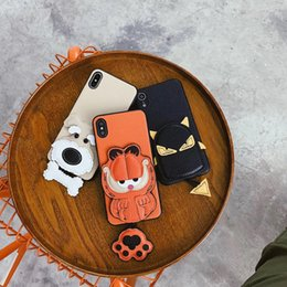 premium mobile phones NZ - New S2 Mobile Phone Shell Leather Animal Pendant Cat and Cat Premium Mobile Phone Case for iPhoneX XS XSMAX
