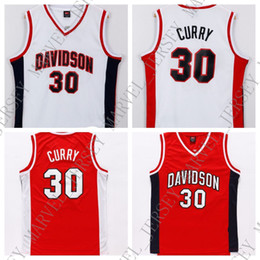 Red Basketball Jerseys Australia - Cheap custom #30 Davidson Jersey College Basketball Stephen Curry Swingman White Red Stitch customize any number name MEN WOMEN YOUTH XS-5XL