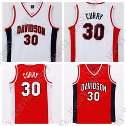 f8b6d5b95e47 5xl Basketball Jerseys Australia - Cheap custom  30 Davidson Jersey College  Basketball Stephen Curry Swingman