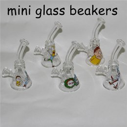 $enCountryForm.capitalKeyWord Australia - New 10mm Female Mini Glass Bong Water Pipes Pyrex Oil Rigs Glass Bong Thick Recycler Oil Rig for Smoking Hookahs with glass bowls