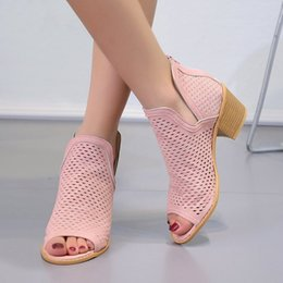 Discount code sandals - Mini2019 Woman Code Will Season Leisure Time Hollow Out Fish Mouth Sandals Coarse With