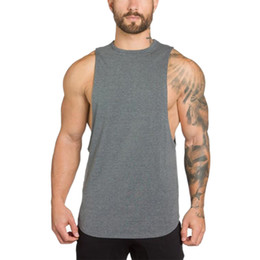 $enCountryForm.capitalKeyWord UK - Muscleguys Bodybuilding Clothing Mens Tank Tops Shirt Men Fitness Singlets Sleeveless Shirt Solid Cotton Muscle Vest Undershir