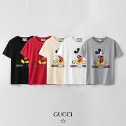 Toptan satış GUCCI Lüks Erkek Desgner T Shirt Moda Casual Yuvarlak Yaka T Shirt Erkekler Kadınlar Gömlek Kısa Kollu Üst Tee Boyut S-2XL # 87621