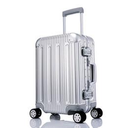 Venta al por mayor de 100% Todo Equipaje de aleación de aluminio Equipaje rígido Carretilla rodante Maleta de viaje 20 Continuar 25 29 Comprobado