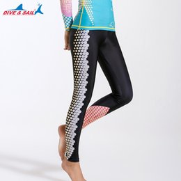 swim leggings NZ - Women's Swim Leggings UPF 50+ Swim Pants - Sun Protective Surfing Tights Basic Wetsuit- Sun Protective Swimwear Full legs