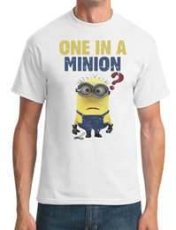 minion shirts NZ - Once In A Minion - Funny Cartoon - Mens T-Shirt Funny 100% Cotton T Shirt Jacket Croatia Leather Tshirt