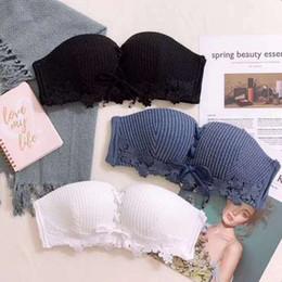 $enCountryForm.capitalKeyWord Australia - New Haagen Dazs strapless bra pull-B strap super-gathering lace skid-proof lady's Top LB underwear