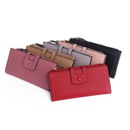 $enCountryForm.capitalKeyWord NZ - Women's Hand Holding Long Wallet Multi-function PU Leather Coin Card Mobile Phone Holder Large Capacity Handbag Ladies Purse for Gift Party