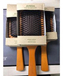 Top qualité Aveda Paddle Brosse Brosse club massage brosse à cheveux peigne Prevent trichomadesis cheveux SAC Massager 0366028 en Solde