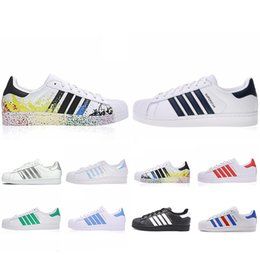 Discount art ship - Free Shipping Super Star Running Shoes White Hologram Iridescent Junior Superstars 80s Pride Womens Mens Trainers Supers