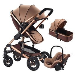 7.8 Baby Stroller 3 In 1 With Car Seat Travel System Newborn Baby 0~36 Months carriage on Sale