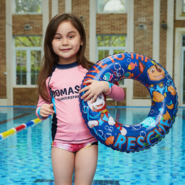 kids inflatables for pools UK - 50cm small Swimmming Pool kids Swimming Ring cartoon dog Pool Float for Kids Inflatable Flamingo Ring for kids 2-5 years old sp08
