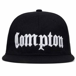 compton hats 2019 - 2019 new COMPTON embroidery Baseball Cap Hip Hop Snapback caps flat fashion sport Hat For Unisex Adjustable dad hats dis