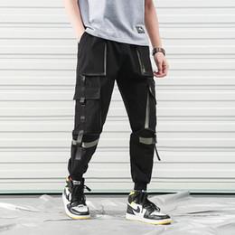 Hip Hop Streetwear Calças de Carga Dos Homens Com Muitos Bolsos Homens Uniformes Calças de Carga Bloco de Cor Roupa de Trabalho Baggy XXXL venda por atacado