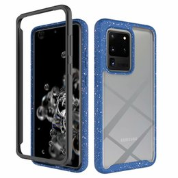 samsung s9 case purple Canada - Hybrid Dual Layer Transparent Clear Hard Case For Samsung Galaxy S20 Ultra S10 Plus Note 10 Plus S10e S9 A71 A51 A20 A30