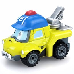 RobocaR poli online shopping - Silverlit Robocar Poli Die Cast Bucky Alloy Engineering Car toys novelty gifts durable model cars for children kids LA92