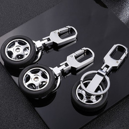 Car Tires Chains Australia - ROTATABLE VEHICLE CAR TYRE TIRE PERSONALIZED KEYCHAIN KEYRING KEY ACCESSORY KEY CHAIN KEY RING CLASSIC DESIGN AWESOME CAR BAG ACCESSORIES
