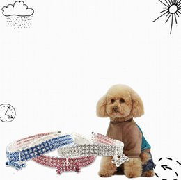 rhinestone dog collars leashes Australia - Pet Dog Cat Collar Bling Rhinestone Crystal Puppy Necklace Collars Leash For Small Medium Dogs Diamond Jewelry CCFYZ289