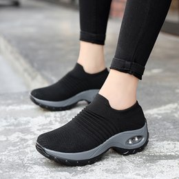 $enCountryForm.capitalKeyWord Australia - 2019 walking sock sneakers women female mesh shoes woman sapato feminino running feminino chaussures femme sapatos sport slip in