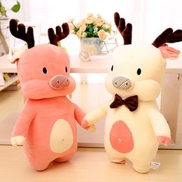 character wigs NZ - Milu Pig Doll Soft Lint Toys Christmas Gift Send Girlfriend Plush Toy Baby Dolls Hot