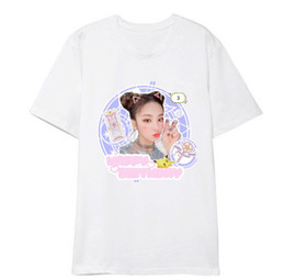 Wholesale kpop short shirts online – design Kpop itzy member photo printing o neck short sleeve t shirt unisex summer style k fashion loose t shirt