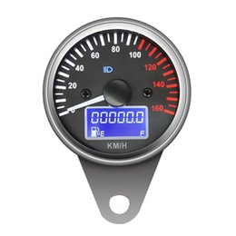 $enCountryForm.capitalKeyWord UK - 1Pcs Universal 12V Motorcycle Speedometer Backlight Digital Fuel Meter Odometer Gauge Auto Replacement Parts Fuel Gauges B3628