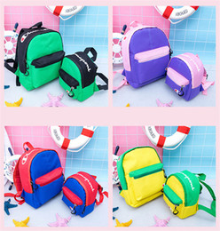 $enCountryForm.capitalKeyWord Australia - Color Macthing Family Backpack Champion Letter Baby Kids Travel Duffle Rucksack Parent-child Shoulder Bag Canvas Schoolbag Daypack C72507
