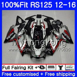 Rs 125 abs faiRing kit online shopping - Injection For Aprilia RS RS125RR RS4 RS125 hot Red silvery HM RSV125 RS OEM Fairing kit