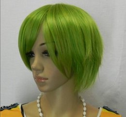 $enCountryForm.capitalKeyWord Australia - WIG free shipping >>>>Details about green wholesale grey anime Cosplay makeup short hair wigs