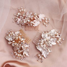 $enCountryForm.capitalKeyWord Australia - 2019 Newest Handmade Drawing Wedding Hair Comb Hairpins Clips Gold Rose Gold Silver Bridal Hair Jewelry Accessories JCH221