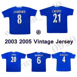 151841755 2003 2005 LAMPARD GUDJOHNSEN VERON Mutu Drogba Crespo Hasselbaink Zola  retro soccer jersey 03 05 TERRY ROBBEN classic vintage football shirt