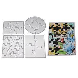 $enCountryForm.capitalKeyWord Australia - 155*144mm 4pcs Puzzle Frames Metal Die Cuts Cutting Dies For DIY Scrapbooking Embossing Paper Cards Making Decor Craft Supplies