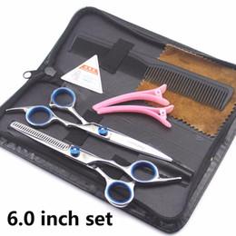 Bangs Hair Salon Australia - 6 Pcs Hair Cutting Scissors Set Hairdressing Scissors Kit,Thinning Scissor,Bangs artifact,Hair Comb,Leather Scissors Case,Barber Salon