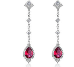 noble low price high quality more color diamond crystal waterdrop women's earings (23.7)