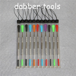 $enCountryForm.capitalKeyWord Australia - 100pcs wax dabber tool Wax Dab Tool with silicone tip and tubes Concentrate Dabber Tool Ego free shipping DHL