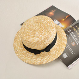 $enCountryForm.capitalKeyWord NZ - 2016 summer Flat sun hats for women chapeau feminino straw hat panama style cappelli Side with bow Beach bucket cap girl topee D19011103