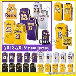 f07dfe3b5f10 LeBron jerseys 2019 Los Angeles 23 LeBron Laker James Lonzo 2 Ball Kyle 0  Kuzma Kobe 24 Bryant Laker Basketball Jersey Kobe