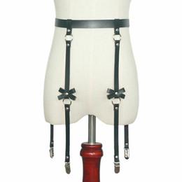 Панк-рок гот лук подвязки пояса ножное кольцо с 4 подтяжками ремни и съемный уплотнительное кольцо ноги жгут на Распродаже