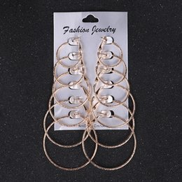 584b91a35 3 Styles Exaggerated Small Big Circle Hoop Earrings 6 Pairs Set Gold Silver  Punk Round Earring Jewelry Sets Support FBA Drop Shipping M202R
